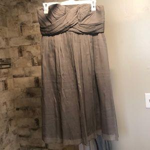 J crew strapless gray bridesmaids dress size 6